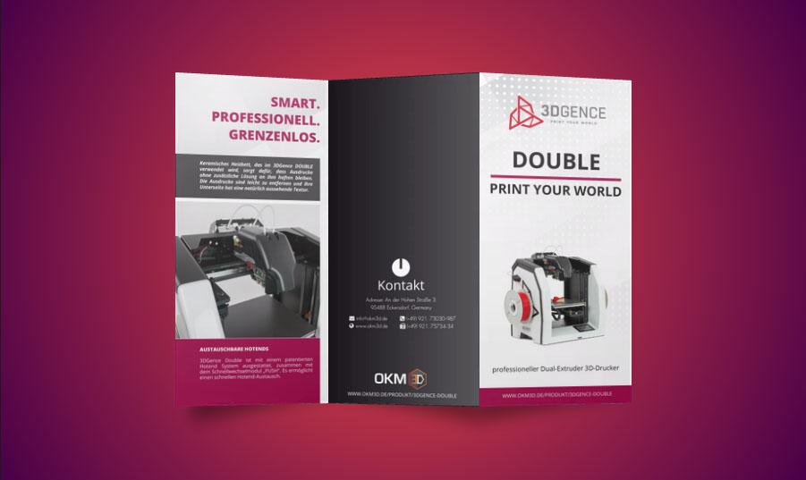 OKM 3D Folder Gestaltung & Konzeption