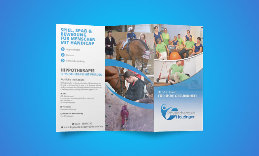Physiotherapie Eckersdorf Folder Gestaltung & Konzeption