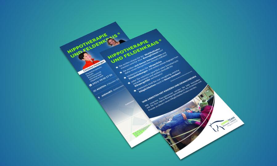 Hippotherapie und Feldenkrais Flyer Gestaltung
