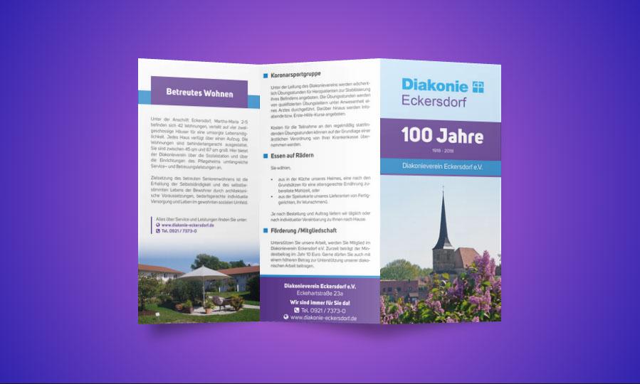 Diakonie Eckersdorf Folder Gestaltung und Konzeption