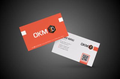 OKM 3D Visitenkarten Gestaltung