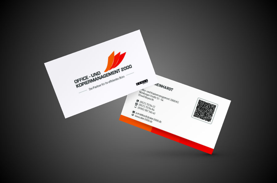 OKM 2000 Visitenkarten Entwurf / Gestaltung
