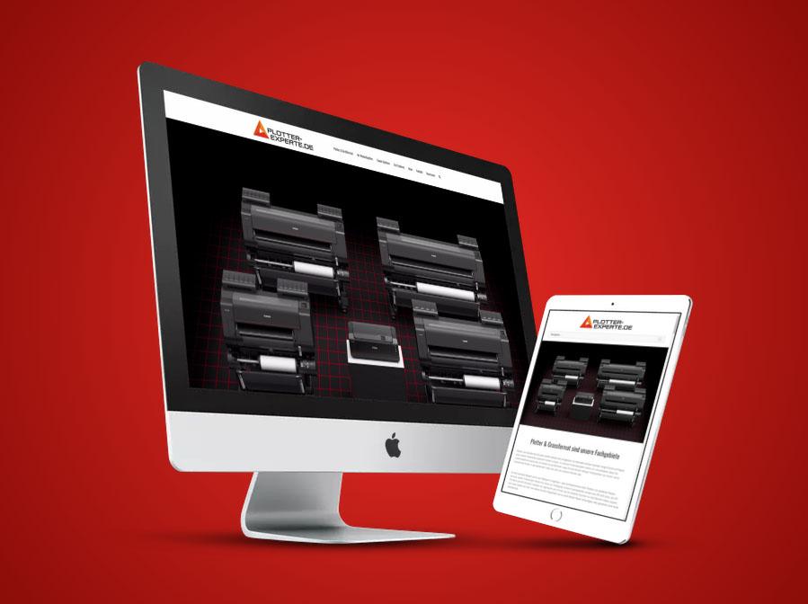 Plotter ExperteWebsite Gestaltung