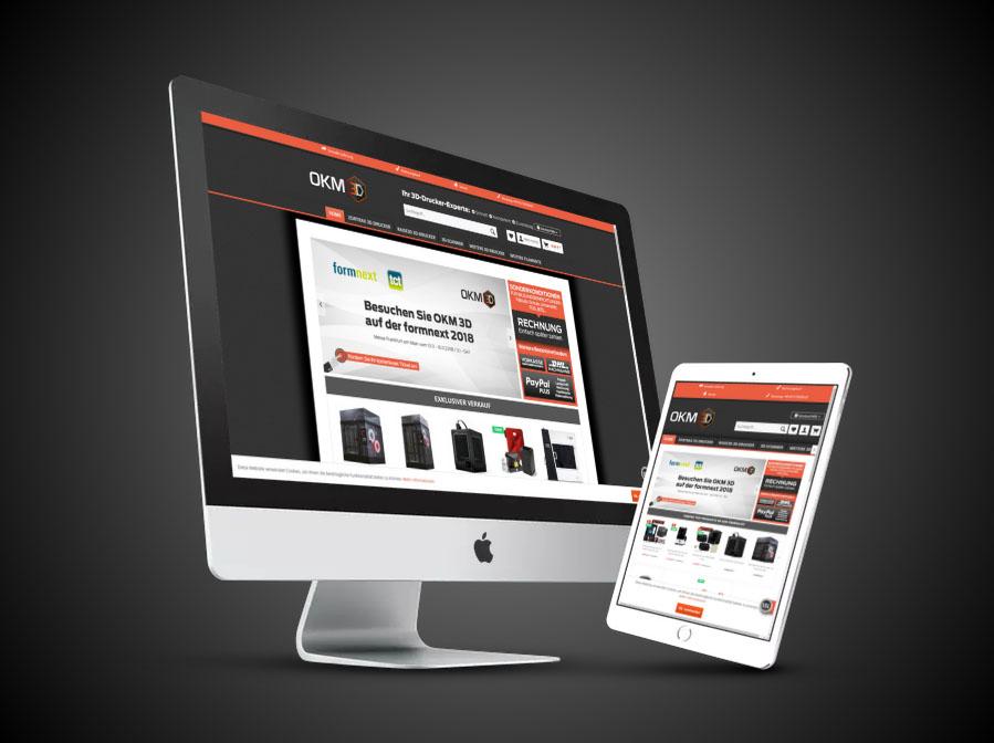 3D-Drucker-Experte Website Gestaltung